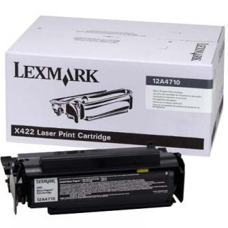 Lexmark originální toner 12A4710, black, 6000str., return, Lexmark X422