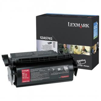 Lexmark originální toner 12A5745, black, 25000str., Lexmark Optra T, T610, T612, T614, T616