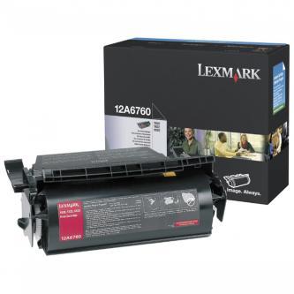 Lexmark originální toner 12A6760, black, 10000str., Lexmark T620, T622, X620e