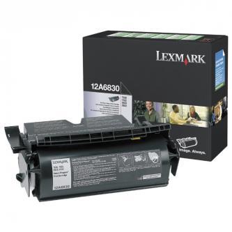 Lexmark originální toner 12A6830, black, 7500str., return, Lexmark T520, 522, X520 MFP