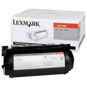 Lexmark originální toner 12A7360, black, 5000str., Lexmark T630, T632, T634, X630, X632e