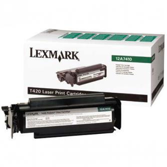 Lexmark originální toner 12A7410, black, 5000str., return, Lexmark T420