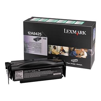 Lexmark originální toner 12A8425, black, 12000str., return, Lexmark T430