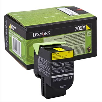 Lexmark originální toner 70C20Y0, yellow, 1000str., return, Lexmark CS510de, CS410dn, CS310dn, CS310n, CS410n