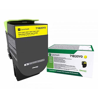 Lexmark 71B20Y0, yellow, 2300str., CS417dn/CS317dn/ CX517dn/CX417de/CS517de/CX317dn
