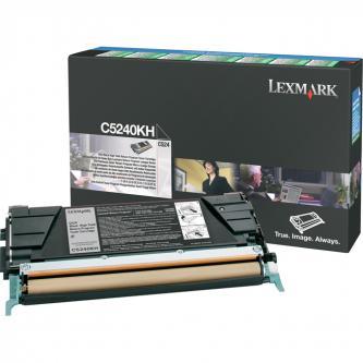 Lexmark originální toner C5240KH, black, 8000str., return, Lexmark C524