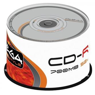 Omega Freestyle CD-R, OF50, 50, 700MB, 52x, 80min., 12cm, bez možnosti potisku, cake box, Standard, pro archivaci dat