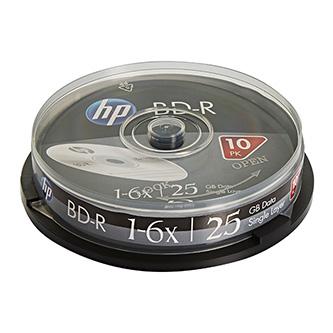 HP BD-R, Single Layer 25GB, Standard, cake box, BRE00071-3, 6x, 10-pack, pro archivaci dat