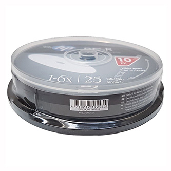 HP BD-R, Single Layer 25GB, Standard, cake box, BRE00071WIP-3, 6x, 10-pack, pro archivaci dat