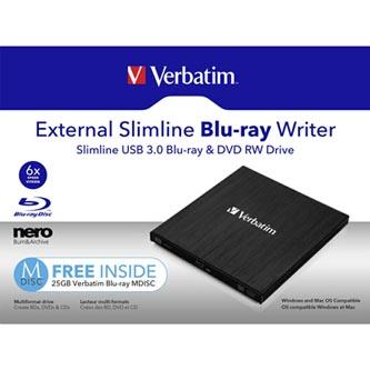 Verbatim externí Blu-Ray vypalovačka, 43890, technologie MDISC (tm)