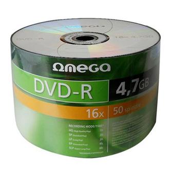 Omega DVD-R, OMD1650S-, 50-pack, 4.7GB, 16x, 12cm, Standard, spindle, bez možnosti potisku, pro archivaci dat