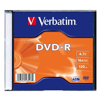 Verbatim DVD-R, 43547, DataLife PLUS, 20-pack, 4.7GB, 16x, 12cm, General, Standard, slim box, Matte Silver, bez možnosti potisku,