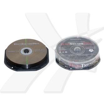 DataTresorDisc DVD+R, 10-pack, 4.7GB, 4x, 12cm, General, Standard, cake box, bez možnosti potisku, pro archivaci dat