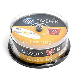 HP DVD+R, DRE00025-3, 25-pack, 4.7GB, 16x, 12cm, cake box, bez možnosti potisku, pro archivaci dat