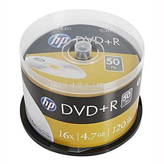 HP DVD+R, DRE00026-3, 50-pack, 4.7GB, 16x, 12cm, cake box, bez možnosti potisku, pro archivaci dat