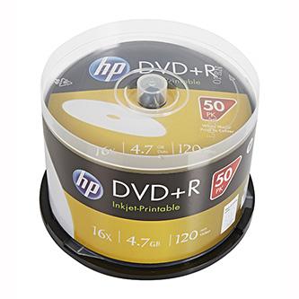 HP DVD+R, DRE00026WIP-3, 50-pack, 4.7GB, 16x, 12cm, cake box, Printable, pro archivaci dat