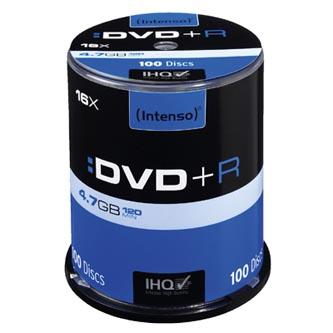 Intenso DVD+R, 4111156, 100-pack, 4.7GB, 16x, 12cm, Standard, cake box, pro archivaci dat