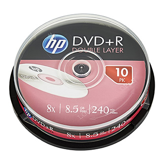 HP DVD+R, DRE00060-3, 10-pack, 8.5GB, 8x, 12cm, cake box, Dual Layer, bez možnosti potisku, pro archivaci dat