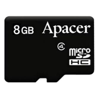 Apacer paměťová karta Secure Digital, 8GB, micro SDHC, AP8GMCSH4-RA, Class 4, bez adaptéru