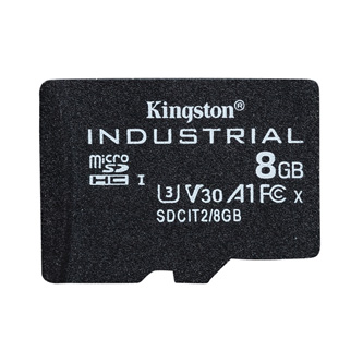 Kingston paměťová karta Industrial C10, 8GB, micro SDHC, SDCIT2/8GBSP, UHS-I U3 (Class 10), pSLC karta