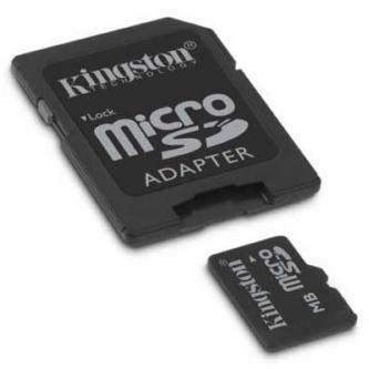 Kingston Micro Secure Digital card, 8GB, micro SDHC, SDC4/8GB, Class 4, s adaptérem