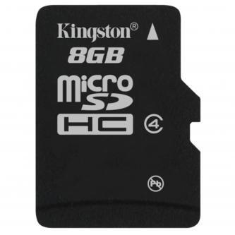 Kingston Micro Secure Digital, 8GB, micro SDHC, SDC4/8GBSP, Class 4, bez adaptéru