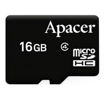 Apacer paměťová karta Secure Digital, 16GB, micro SDHC, AP16GMCSH4-RA, Class 4, bez adaptéru