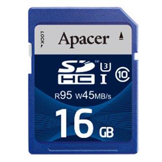 Apacer paměťová karta Secure Digital, 16GB, SDHC, AP16GSDHC10U3-R, UHS-I U3