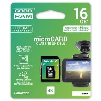 Goodram Micro SDHC, 16GB, sada micro SDHC a čtečky karet, M3AA-0160R11-DD, UHS-I U3