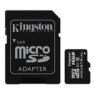 Kingston Micro Secure Digital card, 16GB, micro SDHC, SDCIT/16GB, UHS-I U1 (Class 10), s adaptérem