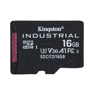 Kingston paměťová karta Industrial C10, 16GB, micro SDHC, SDCIT2/16GBSP, UHS-I U3 (Class 10), pSLC karta