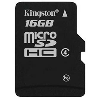 Kingston Micro Seruce Digital Card single pack, 16GB, micro SDHC, SDC4/16GBSP, Class 4, bez adaptéru