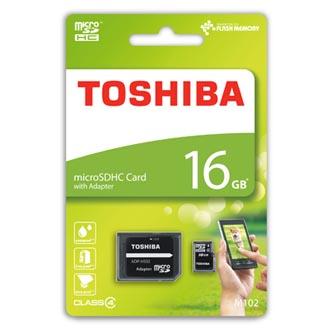 Toshiba paměťová karta M102, 16GB, micro SDHC, SDU16GSDHC4M102M4TR, Class 4, bez adaptéru