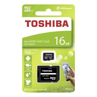 Toshiba M203, 16GB, micro SDHC, THN-M203K0160EA, UHS-I U1 (Class 10)