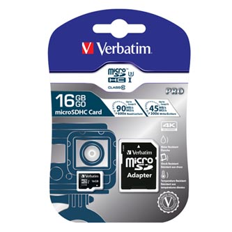 Verbatim paměťová karta micro SDXC, 16GB, micro SDXC, 47040, UHS-I U1 (Class 10), s adaptérem