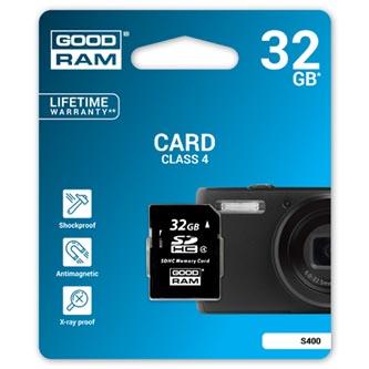 Goodram Secure Digital Card, 32GB, SDHC, S400-0320R11, Class 4