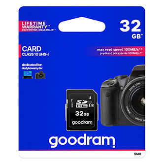 Goodram Secure Digital Card, 32GB, SDHC, S1A0-0320R11, UHS-I U1 (Class 10)