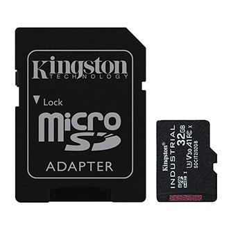 Kingston paměťová karta Industrial C10, 32GB, micro SDHC, SDCIT2/32GB, UHS-I U3 (Class 10), pSLC karta s adaptérem