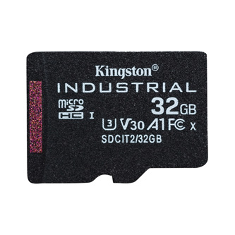 Kingston paměťová karta Industrial C10, 32GB, micro SDHC, SDCIT2/32GBSP, UHS-I U3 (Class 10), pSLC karta
