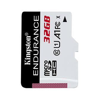 Kingston paměťová karta High-Endurance, 32GB, micro SDHC, SDCE/32GB, UHS-I U1 (Class 10), bez adaptéru, A1
