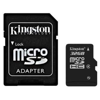 Kingston MICRO SDHC Class 4, 32GB, micro SDHC, SDC4/32GB, Class 4, s adaptérem