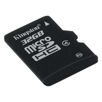 Kingston micro SDHC Class 4 single pack, 32GB, micro SDHC, SDC4/32GBSP, Class 4, bez adaptéru