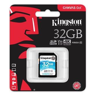 Kingston paměťová karta Canvas Go!, 32GB, SDHC, SDG/32GB, UHS-I U3