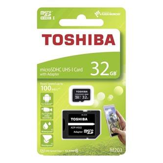 Toshiba paměťová karta micro SDHC, 32GB, micro SDHC, THN-M203K0320EA, UHS-I U1 (Class 10), s adaptérem