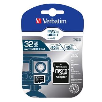 Verbatim paměťová karta micro SDXC, 32GB, micro SDXC, 47041, UHS-I U1 (Class 10), s adaptérem