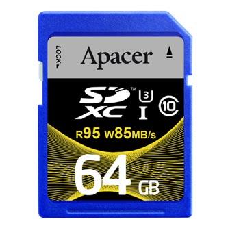 Apacer paměťová karta Secure Digital, 64GB, SDXC, AP64GSDXC10U4-R, UHS-I U3