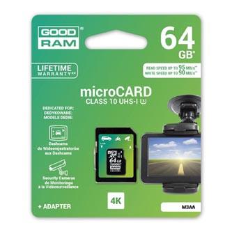 Goodram Micro SDXC, 64GB, sada micro SDXC a čtečky karet, M3AA-0640R11-DD, UHS-I U3