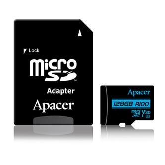 Apacer paměťová karta Secure Digital, 128GB, micro SDXC, AP128GMCSX10U7-R, UHS-I U3, V30, s adaptérem