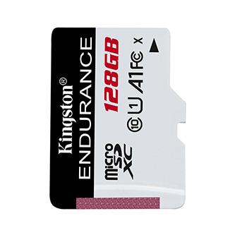 Kingston paměťová karta High-Endurance, 128GB, micro SDHC, SDCE/128GB, UHS-I U1 (Class 10), bez adaptéru, A1
