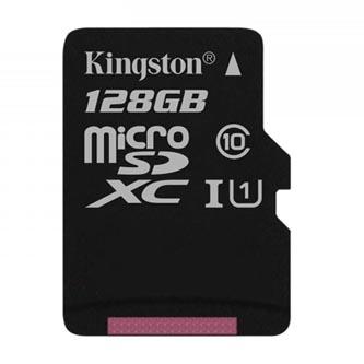 Kingston paměťová karta Canvas Select, 128GB, micro SDXC, SDCS/128GBSP, UHS-I U1 (Class 10), bez adaptéru